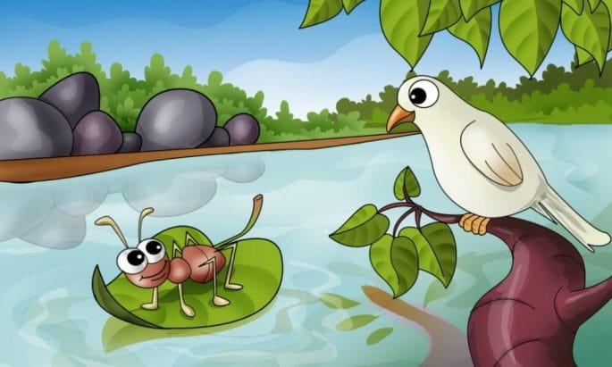 प्यासी चींटी और कबूतर