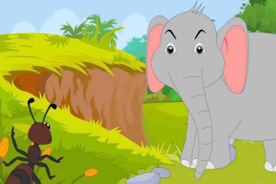 चींटी और घमंडी हाथी