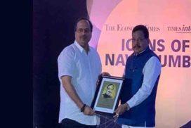 संदीप आसोलकर 'आयकोन ऑफ़ नवी मुंबई' पुरस्कार से सम्मानित
